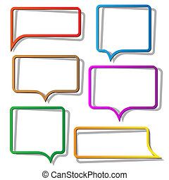 Speech bubbles from paper