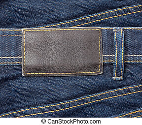 jeans with lable