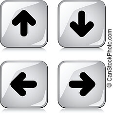 vector glossy arrow buttons