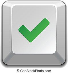 vector positive checkmark key