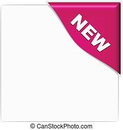 vector pink new corner