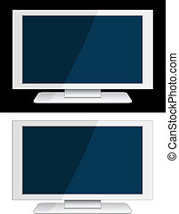 vector white lcd panel