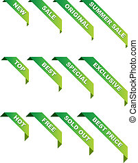 vector promotional ribbons