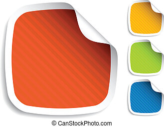 vector striped stickers