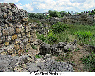 remains of the ancient city - The remains of the ancient...