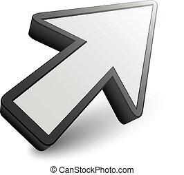 vector 3D arrow pointer