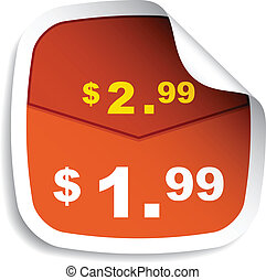 vector price tag