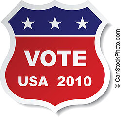 vector patriotic vote sticker