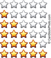 vector golden shiny rating stars