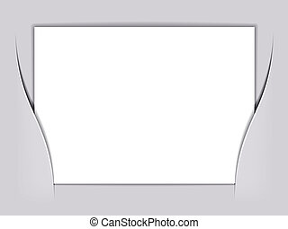 vector blank white rectangle paper