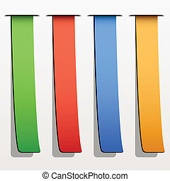 vector colored ribbon stripes