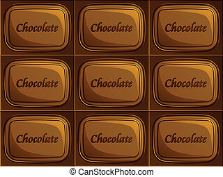 vector seamless chocolate
