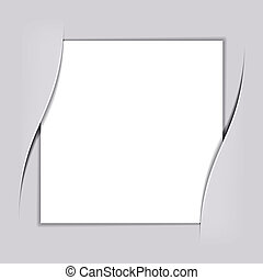 vector blank white square paper