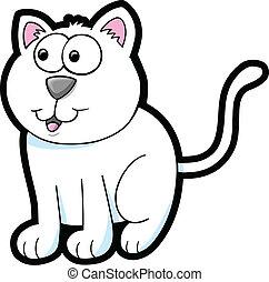 Cute Cat Kitten Vector Illustration