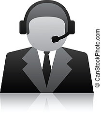 vector telephone user support icon
