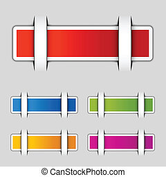 vector blank attached rectangle labels