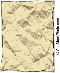vector crumpled yellowed paper