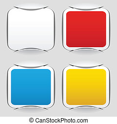 vector blank attached square papers