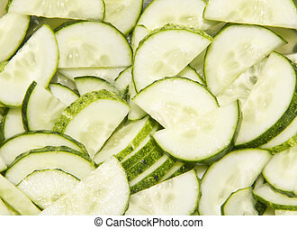 cutted cucumbers