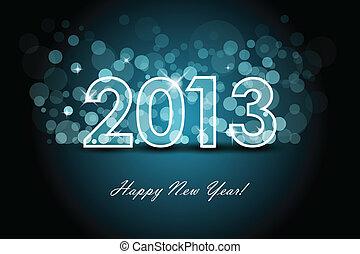 2013, -, nouveau, année, fond
