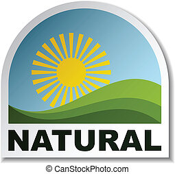 vector natural landscape sticker