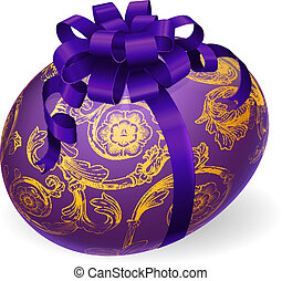 Decorated Wrapped Easter Egg - Illustration of a luxury...