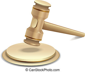 Vector illustration of gavel