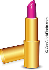 Vector illustration of pink lipstic