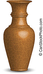 Vector illustration of old vase