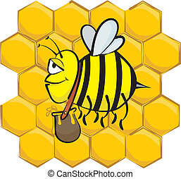 industrious bee - hard working bee - sweet background and...
