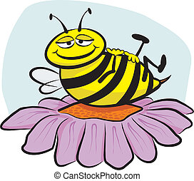 resting bee - deserved rest after hard work