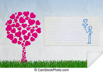 Abstract background of love