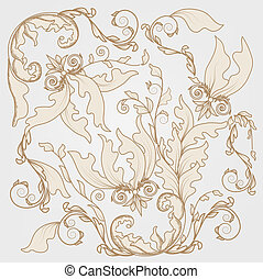 fully decorated damask texture - seamless fully decorated...