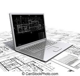 laptop architectural plans