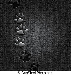 Step by Step - Abstract black digital wallpaper with...
