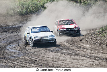 races - two cars for extreme off-road on the track