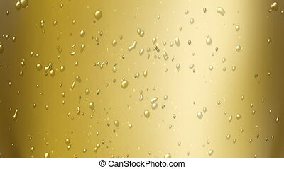 champagne bubbles - the bubbles floating up in the liquid of...
