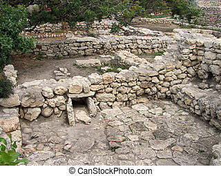 The remains of the ancient city of