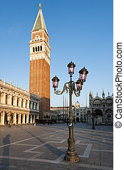 Early morning at the Piazza San Marco St Marks Square...