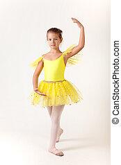 CÙte, pequeno, menina, balé, dançarino