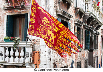 Colors of the Venice - Flag and emblem of the Venice