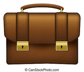 Business Briefcase Brown Leather