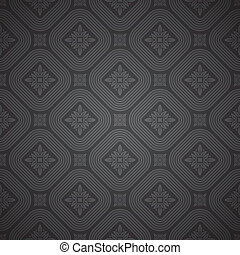Vector seamless black pattern