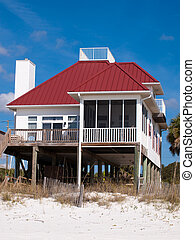 Beach Houses - Beach houses at Mexico Beach, Florida.