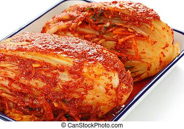 homemade kimchi, korean food