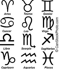 Astrology sign isolated on white