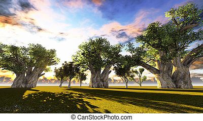 silhouetted baobab baum stock foto bilder 311 silhouetted. Black Bedroom Furniture Sets. Home Design Ideas