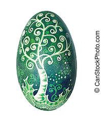 Ukrainian easter egg - Colorful Ukrainian Easter Egg...
