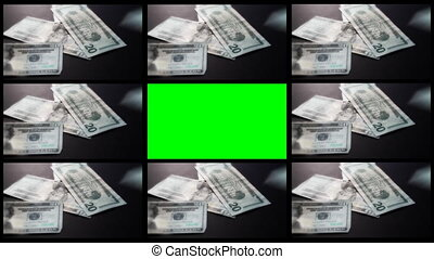 Money Falling Montage Green Screen