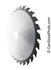 Sawmill Blades - Circular saw blade isolated over a white...